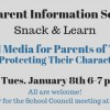 Parent Snack and Learn Social Media